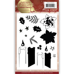 PMCS10032 - Clear Stamp - Precious Marieke - Merry and Bright Christmas - Candle