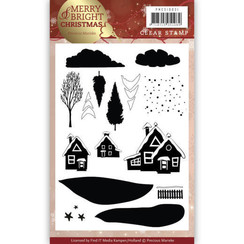 PMCS10031 - Clear Stamp - Precious Marieke - Merry and Bright Christmas - Christmas House