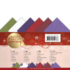 PM-A5-10018 - Linnenpakket -  A5- Precious Marieke - Merry and Bright Christmas