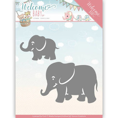 YCD10138 - Mal - Yvonne Creations - Welcome Baby - Little Elephants