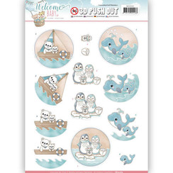 SB10265 - 3D Uitdrukvel - Yvonne Creations - Welcome Baby - By The Sea