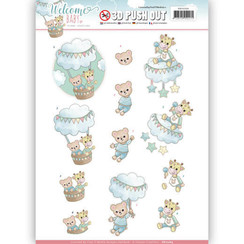 SB10264 - 3D Uitdrukvel - Yvonne Creations - Welcome Baby - In The Air