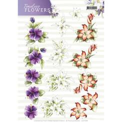 CD11085 - 10 stuks knipvellen - Precious Marieke - Timeless Flowers - Lillies