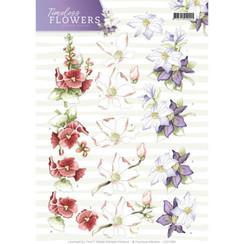 CD11084 - 10 stuks knipvellen - Precious Marieke - Timeless Flowers - Garden Flowers