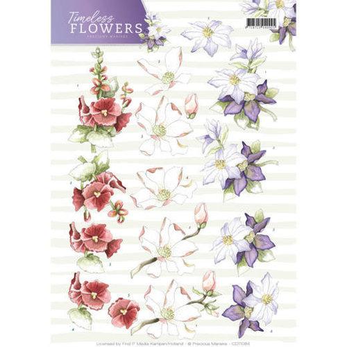 Precious Marieke CD11084 - 10 stuks knipvellen - Precious Marieke - Timeless Flowers - Garden Flowers