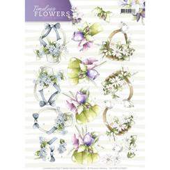 CD11081-HJ15801 - 10 stuks knipvellen - Precious Marieke - Timeless Flowers - Bouquets