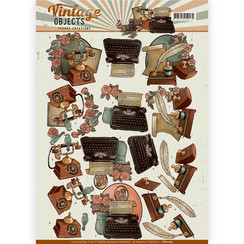 CD11107 - 10 stuks knipvellen - Yvonne Creations - Vintage Objects - Vintage Communications