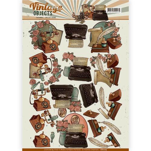 Yvonne Creations CD11107 - 10 stuks knipvellen - Yvonne Creations - Vintage Objects - Vintage Communications