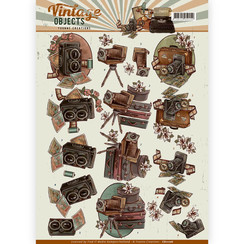 CD11106 - 10 stuks knipvellen - Yvonne Creations - Vintage Objects - Vintage Cameras