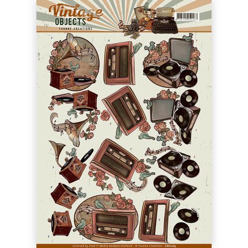 Yvonne Creations CD11105 - 10 stuks knipvellen - Yvonne Creations - Vintage Objects- Vintage Music