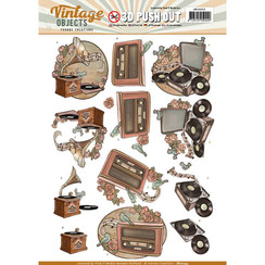 SB10253 - Uitdrukvel - Yvonne Creations  - Vintage Objects - Vintage Music