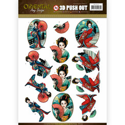 SB10252 - Uitdrukvel - Amy Design -  Oriental - Geishas
