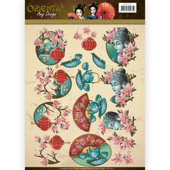 CD11075 - 10 stuks knipvellen - Amy Design Oriental - Culture