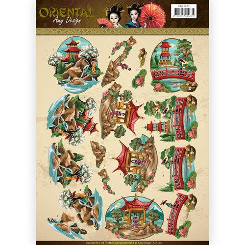 Amy Design CD11073 - 10 stuks knipvellen - Amy Design Oriental - Landscapes