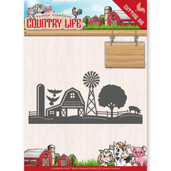 YCD10125 - Mal - Yvonne Creations - Country Life Farm Border