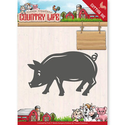 YCD10130 - Mal - Yvonne Creations - Country Life Pig