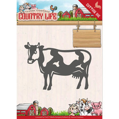 YCD10128 - Mal - Yvonne Creations - Country Life Cow
