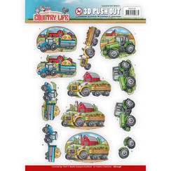 SB10248 - Uitdrukvel - Yvonne Creations Country Life Tractors