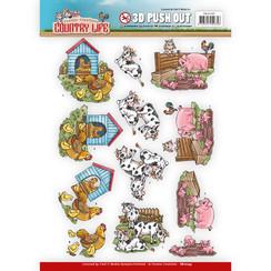 SB10247 - Uitdrukvel - Yvonne Creations Country Life Farm Animals