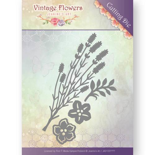 Jeanines Art JAD10037 - Mal - Jeanines Art- Vintage Flowers - Vintage Foliage