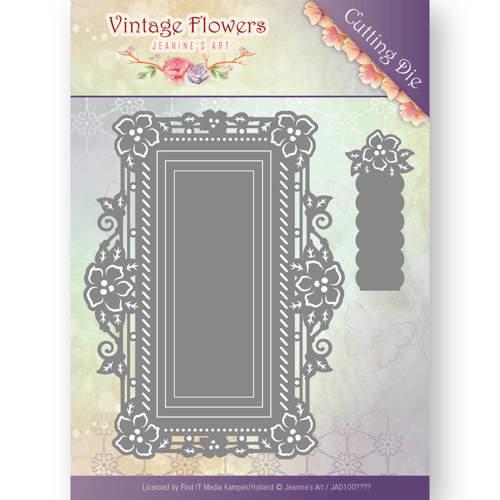 Jeanines Art JAD10035 - Mal - Jeanines Art- Vintage Flowers - Floral Rectangle