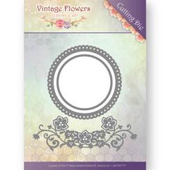 JAD10034 - Mal - Jeanines Art- Vintage Flowers - Flowers and Circles