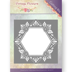 JAD10031 - Mal - Jeanines Art- Vintage Flowers - Floral Hexagon