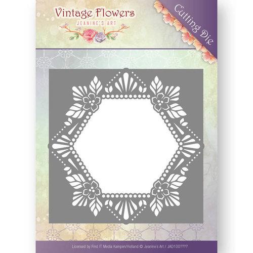 Jeanines Art JAD10031 - Mal - Jeanines Art- Vintage Flowers - Floral Hexagon