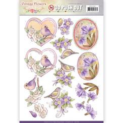 SB10240 - Uitdrukvel - Jeanines Art- Vintage Flowers - Pale Violet