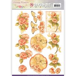 SB10239 - Uitdrukvel - Jeanines Art- Vintage Flowers - Sweetheart Vintage