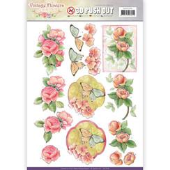 SB10238 - Uitdrukvel - Jeanines Art- Vintage Flowers - Sweetheart Vintage