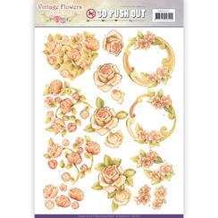 SB10237 - Uitdrukvel - Jeanines Art- Vintage Flowers - Romantic Vintage