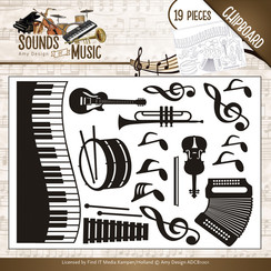 ADCB1001 - Amy Design - Chipboard Sounds of Music
