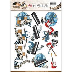 SB10244 - Uitdrukvel - Amy Design -  Sounds of Music - Pop