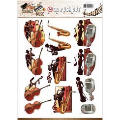 SB10242 - Uitdrukvel - Amy Design -  Sounds of Music - Jazz