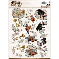 CD11063 - 10 stuks knipvellen - Amy Design - Sounds of Music - Classic