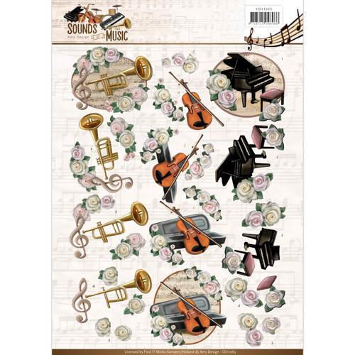 Amy Design CD11063 - 10 stuks knipvellen - Amy Design - Sounds of Music - Classic