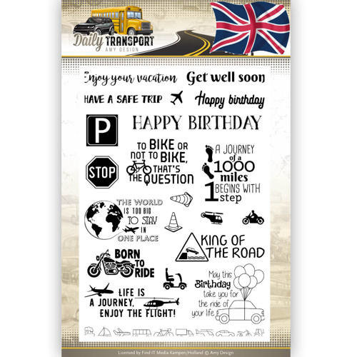 Amy Design ADCS10037 - Stempel Text - Amy Design - Daily Transport English