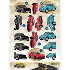 CD11038 - 10 stuks knipvellen - Amy Design - Daily Transport - Daily Cars
