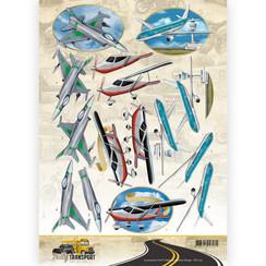CD11037 - 10 stuks knipvellen - Amy Design - Daily Transport - Flying High