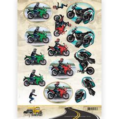 CD11036 - 10 stuks knipvellen - Amy Design - Daily Transport - Motorcycling