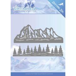 JAD10029 - Mal - Jeanines Art- Wintersports - Mountain Border