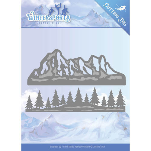 Jeanines Art JAD10029 - Mal - Jeanines Art- Wintersports - Mountain Border