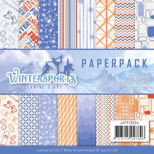 Jeanines Art JAPP10004 - Papierpak - Jeanines Art- Wintersports