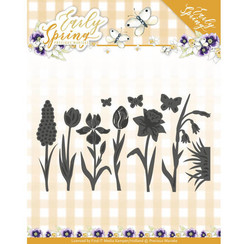 PM10115 - Mal - Precious Marieke - Early Spring - Spring Flowers and Butterfly Dies
