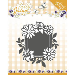 PM10113 - Mal - Precious Marieke - Early Spring - Spring Flowers Square label