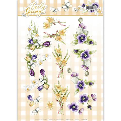 Precious Marieke CD11026 - 10 stuks knipvellen - Precious Marieke - Early Spring - Early Daffodils