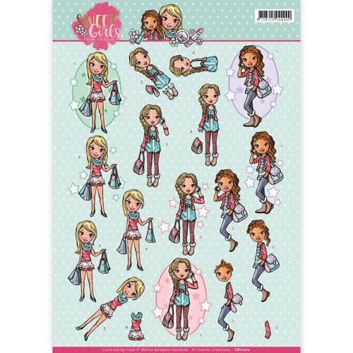 Yvonne Creations CD11012 - 10 stuks knipvellen - Yvonne Creations - Sweet girls - My World