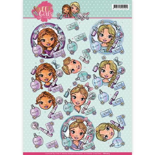 Yvonne Creations CD11013 - 10 stuks knipvellen - Yvonne Creations - Sweet girls - Beautiful girls