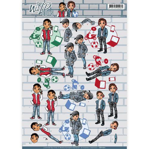 Yvonne Creations CD11011 - 10 stuks knipvellen - Yvonne Creations - Wild Boys - Chill Time